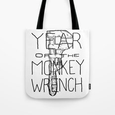 Year of the Monkey Wrench Tote Bag