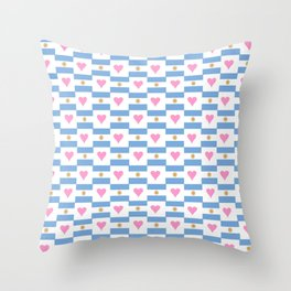 Flag of argentina 3 -Argentine,Argentinian,Argentino,Buenos Aires,cordoba,Tago, Borges. Throw Pillow