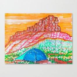 Sleeping Outside Canvas Print