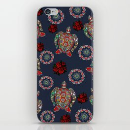 Boho Sea, Turtle Rose iPhone Skin