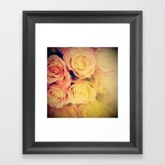 Pretty Little Roses Framed Art Print