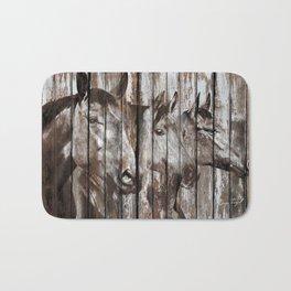 Three Horses Bath Mat