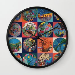 Bolitas de colores Wall Clock