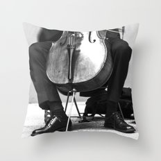The Cellist Throw Pillow