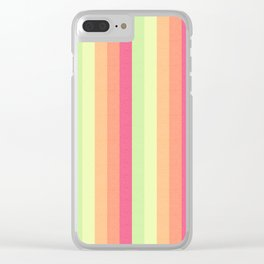 Melon Ball Striped Pattern Clear iPhone Case