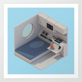 NAKAGIN Capsule Tower Interior Art Print