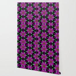 Abstract Spawning Green Fish Geometric Pattern Wallpaper