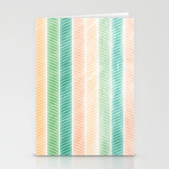 Feather Pattern Stationery Cards