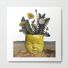 realismo magico - yellow Metal Print
