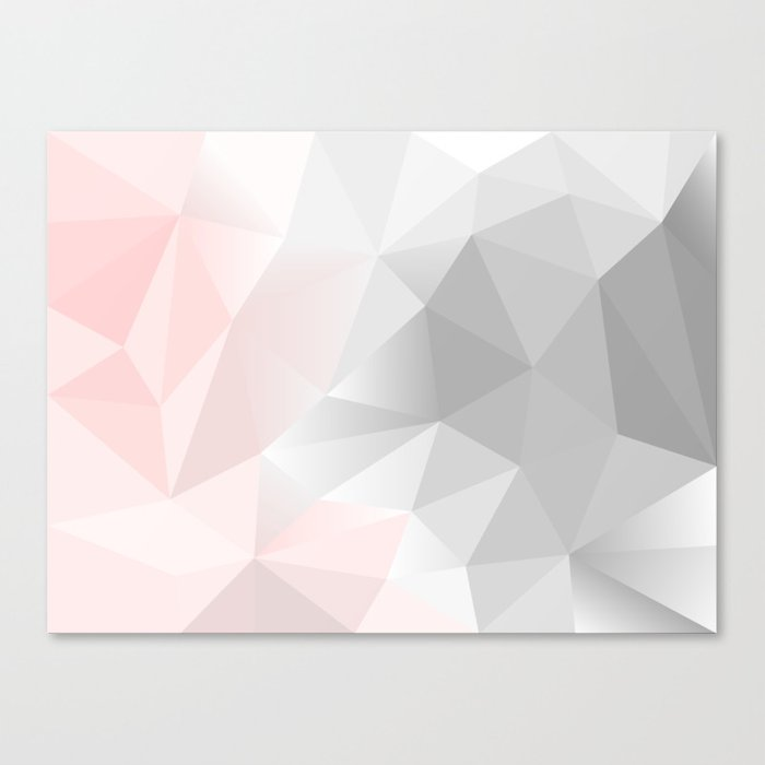 pink and gray geometric low poly background Canvas Print ...