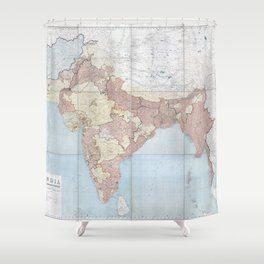 Geography And Geology Of The Himalayas - 1933 Shower Curtain