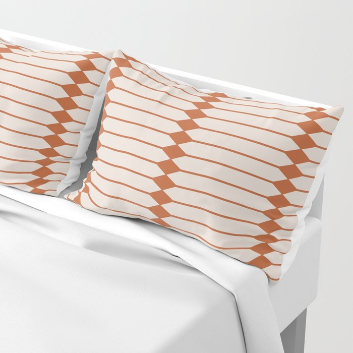 Minimal Geometric Pattern - Coral Pillow Sham