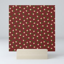 Jingle Balls, Christmas Holly and Testicles in Red Mini Art Print