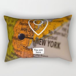 NYC you are here Rectangular Pillow