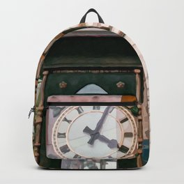 Realistic Painting of the Gastown Steam Clock in Vancouver, BC Backpack