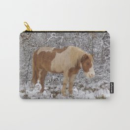 Pinto in the snow Carry-All Pouch