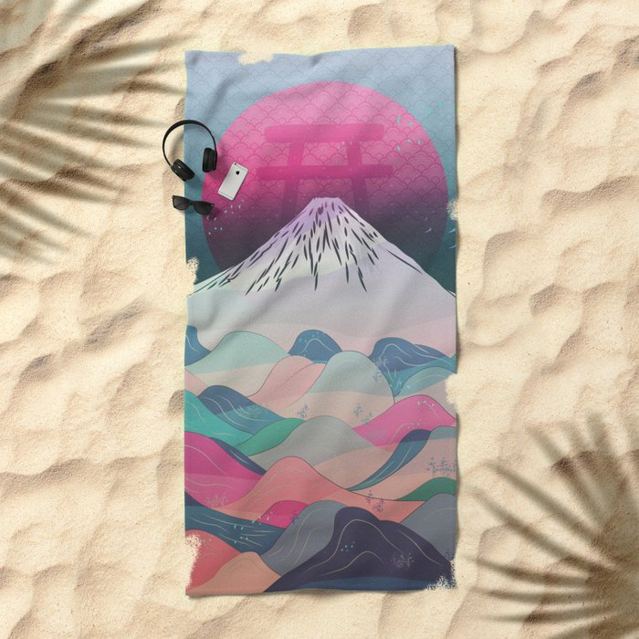 Dreaming of Japan Beach Towel
