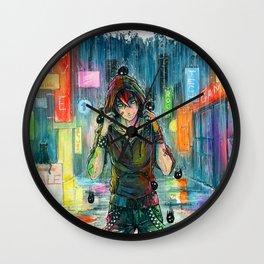 Cleansing Rain Wall Clock