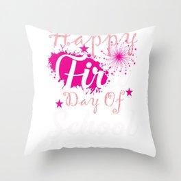 Happy First Day of School Teacher Gift design Throw Pillow