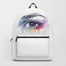 Colorful Eye Dripping Rainbow Backpack