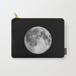 Full Moon print black-white photograph new lunar eclipse poster bedroom home wall decor Carry-All Pouch