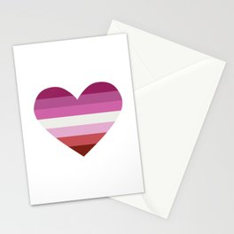 lesbian pride heart. Stationery Cards