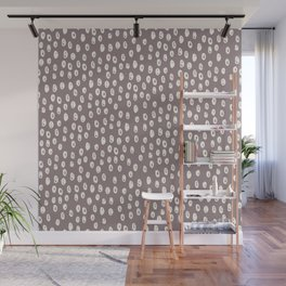 Mauve grayish pink white geometrical polka dots pattern Wall Mural