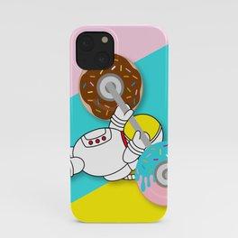 Astro Donut Dumbbell   Astronaut   Cosmonaut   pulps of wood iPhone Case