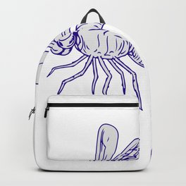 Dragonfly Flying Drawing Side Backpack