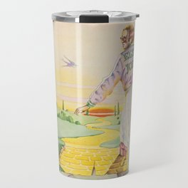 John - Goodbye Yellow Brick Road by Elton Travel Mug