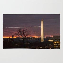 Obelisc at the sunset in washington D.C Rug