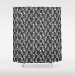 Cubicles Pattern Shower Curtain