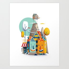 good neighbours Art Print