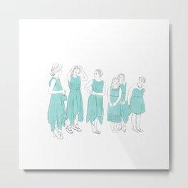 Bridesmaids (aqua) Metal Print