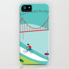San Francisco, California - Collage Illustration by Loose Petals iPhone Case