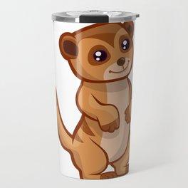 Cute Baby Meerkat Travel Mug