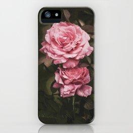 Pink Rose Garden iPhone Case