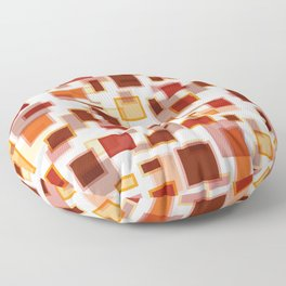 Red Abstract Rectangles Floor Pillow