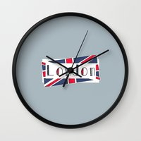 calendars Wall Clocks featuring Home, Love, Illustration, Heart, london  by Shabby Studios Design & Illustrations ..