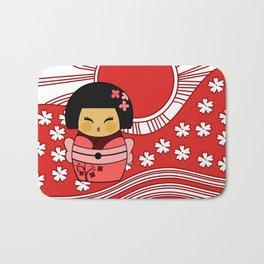 Kokeshi Sakura Bath Mat