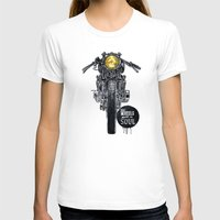 cafe racer T-shirts featuring Moto - cafe racer by dareba
