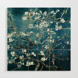 Van Gogh Almond Blossoms : Dark Teal Wood Wall Art