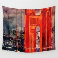 san francisco Wall Tapestries featuring San Francisco by takmaj