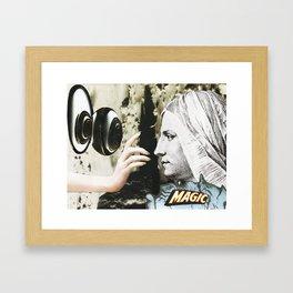 magic - collage Framed Art Print
