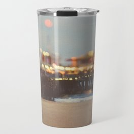 Beach Candy. Santa Monica pier photograph Travel Mug