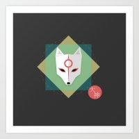 okami Art Prints featuring Okami by Sun Dai