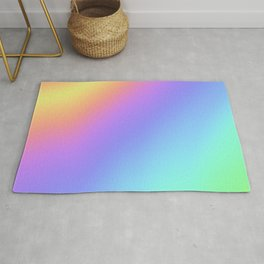 Holographic Foil Multi Colored Pattern Colorful Gradient Abstract Rainbow Rug