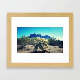 Superstition Mountains 2 Framed Art Print