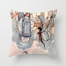 """""""Dew Drops"""" by A Duncan Carse Throw Pillow"""