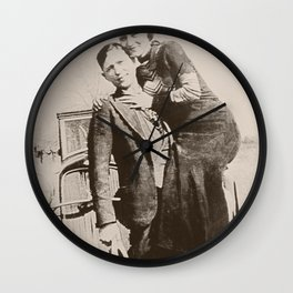Bonnie and Clyde Wall Clock